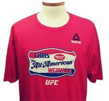 UFC MMA Chris Weidman Middleweight Champion 2 Sided Men's 2XL T-Shirt NEW NWT
