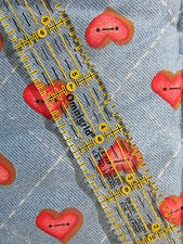 Past & Present Daisy Kingdom cotton fabric HEARTS BTHY half yard cut