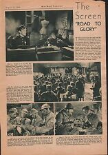 """1936 MOVIE REVIEW - """"ROAD TO GLORY"""" w BARRYMORE,BAXTER,"""
