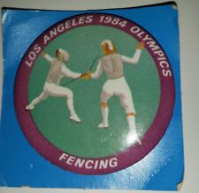 Los Angeles 1984 Olympics Fencing Pin Back Button