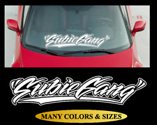 Subie Gang Windshield Banner Vinyl Decal Sticker Subiegang Fits Subaru Sti Wrx