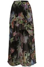 Topshop Orchid Floral Print Drop Maxi Skirt UK 8 EURO 36 US 4 BNWT RRP £48