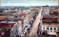 1910 Postcard: Bird's Eye View/Downtown - San Jose, California CA