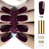 RS Nail Gel Nail Polish UV LED Soak Off Dark Purple Red Colours 158 0.5fl.oze