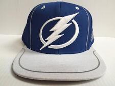Tampa Bay Lightning Cap Adidas Flat Snapback 2018 Official NHL Blue Hat