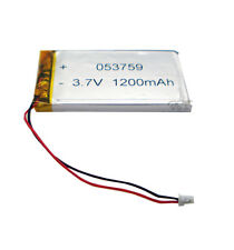 3.7V 1200 mAh Li-polymer Rechargeable battery Li-ion Connector 053759 for GPS