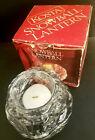 KOSTA Snowball Lantern Glass Candle Holder w Candle + Original Box Unused