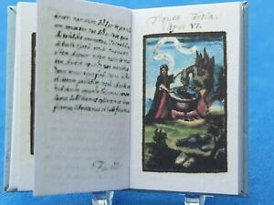 1:12 Scale Book, Alchemy Compendium, 1790 Crafted by ken Blythe.