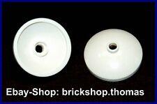 Lego 2 x Radar Satschüssel weiß - 43898 - Dish 3 x 3 Inverted White - NEU / NEW