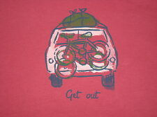 LIFE IS GOOD WOMEN'S S/S  GET OUT SUV VEE  T- SHIRT  SIZE M