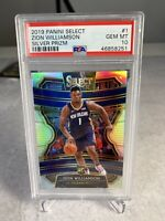 2019-20 Panini Select Zion Williamson Silver Prizm Concourse PSA 10 Rookie RC 🔥