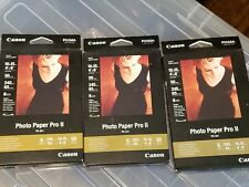 "3 Packs CANON PIXMA PHOTO PAPER PRO II 4"" X 6"" Super High Gloss 50 Sheets PR-201"