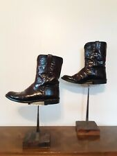 Lucchese Mens Mahogany Western Cowboy Boots Size 13.5 Brown Cowhide L3505