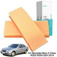 Car Air Filter For Mercedes Benz 2001-2014 C230 C240 C280 C320 C350 GLK350 S400