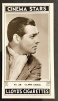 1935 LLOYD & SONS CINEMA STARS GLOSSY #28 CLARK GABLE (A)