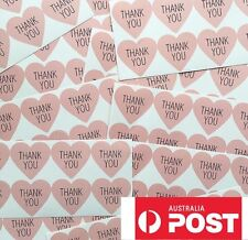 50 x Thank You Love Heart Stickers Wedding Engagement Party Favour Bombonier DIY