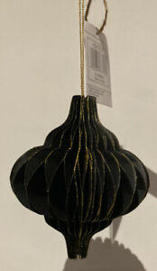 Unbranded Black & Gold Paper Baubles • Pack Of 4 • BNWT