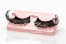 NEW black DRAMATIC look EXAGGERATED winged FALSE eyelashes HALLOWEEN drag queen