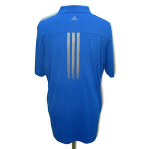 ADIDAS Men's (Size XL) Blue AdiZero Short Sleeve Athletic Polo Shirt Golf Tennis