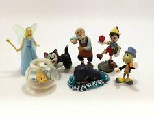 7Pcs Set Disney Japan TOMY Choco Egg Pinocchio Cartoon Mini Miniature Figure Toy