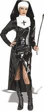 Ladies Gothic Dominatrix PVC Mother Superior Halloween Fancy Dress Size 10-12