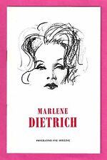 An Evening With MARLENE DIETRICH Burt Bacharach 1965 Birmingham, England Program