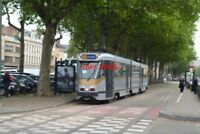 PHOTO  2012 BELGIUM TRAM BRUXELLES AVE MIDI TRAM NO 7917 ON ROUTE NO 51