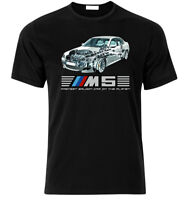 T-shirt for E60 M5 V10 fastest saloon car on planet Mpower FAN T Shirt S-XXL