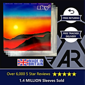 """100 LP Album 12"""" 250g Plastic Polythene Record Sleeves - Outer Vinyl Covers"""