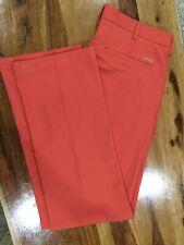 Mens Izod Golf Pants 33/34 Slim Fit Orange Coral EUC:⛳️