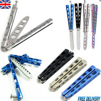 Butterfly Rainbow Knife Balisong Dragon Trainer Dull Metal Tool Practice Toy