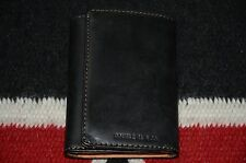 Ralph Lauren RRL Black Leather Trifold Wallet