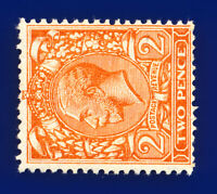 1924 SG421b 2d Orange (Wmk Side) N36(1)c Mint Full Gum Cat £100 dcah