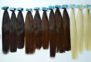 Tape In Invisible Extensions Remy Virgin Russian Human Hair  Uk Seller