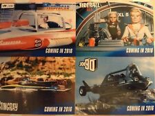 UNSTOPPABLE 2016 YEARSET: PROMO CARDS: SUPERCAR, STINGRAY, JOE 90, FIREBALL XL5