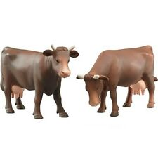 New Bruder Toys 1:16 Scale -  02308 - Brown Cow Set Farm Toy Animal Figure
