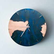 Clock Half Time Blue