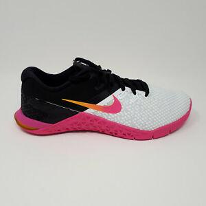Women's Nike Metcon 4 XD White Fuchsia CD3128 100 Cross Training Shoe Size 7.5