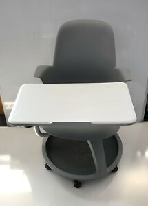 Steelcase White and Grey student study gaming chair