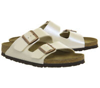 Womens Birkenstock Arizona Two Strap Sandals Graceful Pearl White Sandals