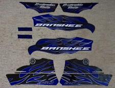 2010 Yamaha Banshee Blue/Black Decals Stickers Labels Graphics 8pc kit