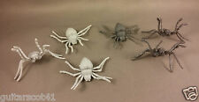 6 Giant Spiders Dungeon & Dragons Gray Plastic Fantasy Monster Figures Lot