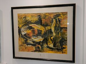 Signed John Otterson Mid Century Untitled Abstract Still Life Painting Modernist