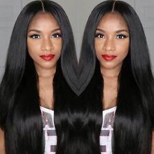 Damen Brazilian Haar Full Lace Cosplay Wig Perücke Langhaarperücke Karneval Lang