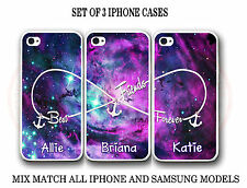 Purple Pink Nebula BFF Best Friends Case - 3 Cases for iPhone and Samsung Galaxy