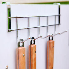 Stainless Steel 5 Hooks Clothes Door Bathroom Hanger hanging Loop Organizer