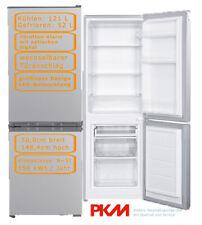 PKM Kühl-Gefrierkombination Silber 173L 143cm hoch freistehend Kühlschrank