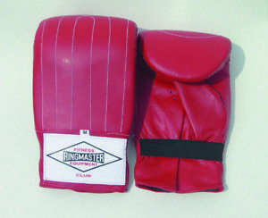 Ringmaster Boxing Punch Bag Mitts Club Red Small Medium Large Padded Leather