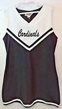 Cardinals Cheerleader Uniform Costume Dress 1pc Black White Youth Girls 12 Lg