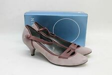 NINE WEST Ladies Nwrada Purple Suede Kitten Heel Shoes UK7.5 EU40 US9W NEW